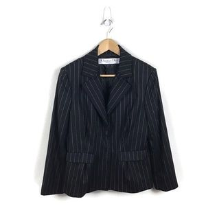 Christian Dior Boutique Jacket Black Stripe Blazer